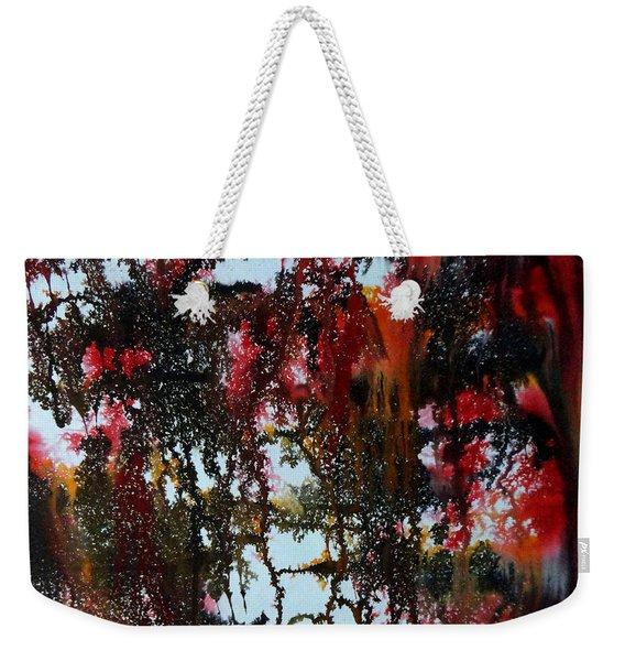 Red Forest Weekender Tote Bag