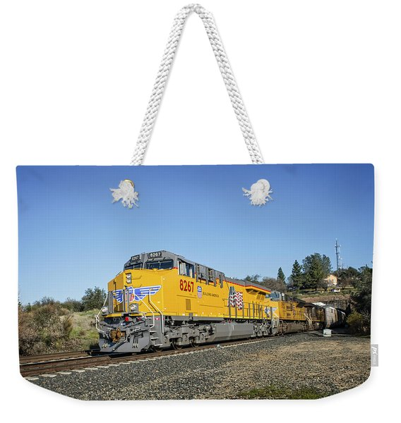 Weekender Tote Bag featuring the photograph Up 8267 by Jim Thompson