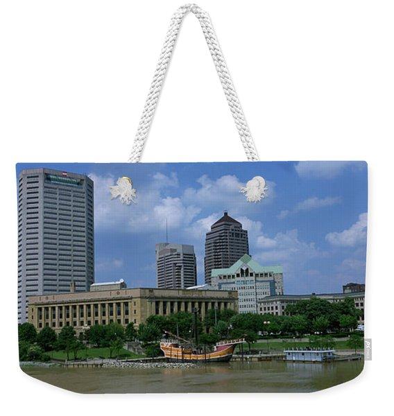 Usa, Ohio, Columbus, Cloud Over Tall Weekender Tote Bag