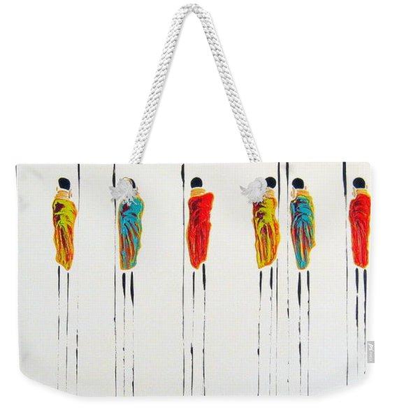 Vibrant Masai Warriors - Original Artwork Weekender Tote Bag