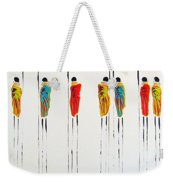 Vibrant Masai Warriors - Original Artwork Weekender Tote Bag