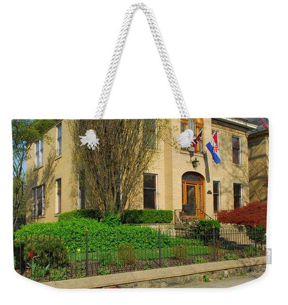 D47l-14 Victorian Village Photo Weekender Tote Bag