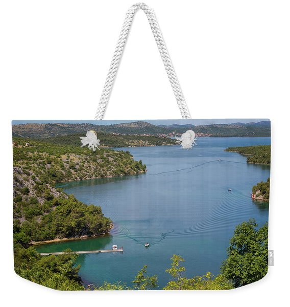 View Down From Sibenik Or Krka Bridge Weekender Tote Bag