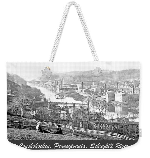 View Of Conshohocken Pennsylvania C 1900 Weekender Tote Bag