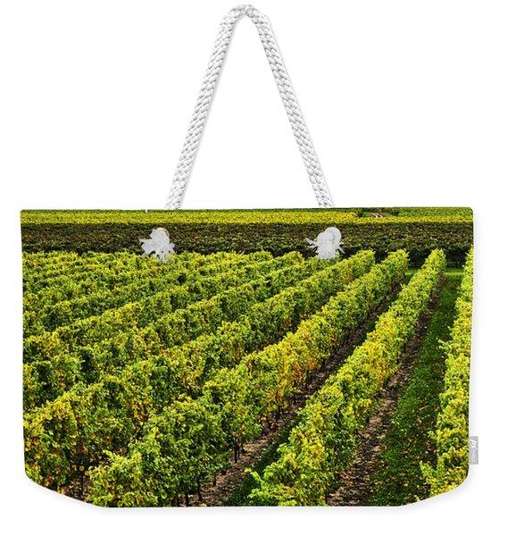 Vineyard At Sunset Weekender Tote Bag
