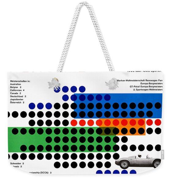 Vintage 1960s Porsche Advert Weekender Tote Bag
