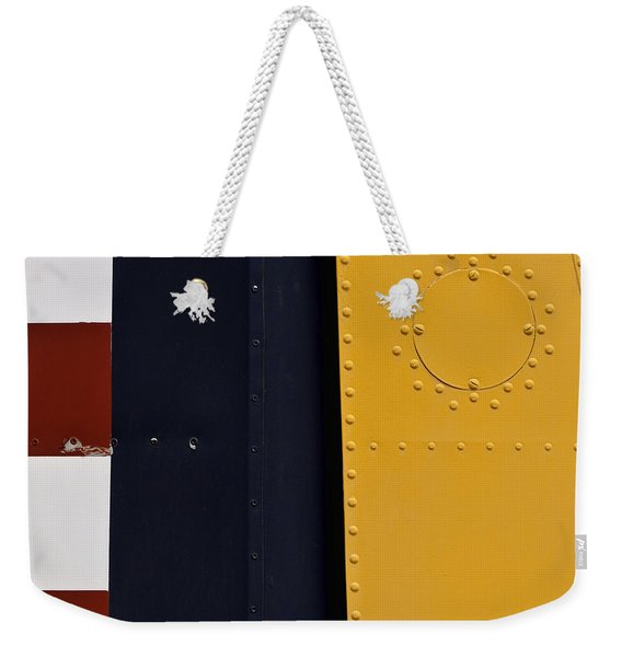 Vintage Airplane Abstract Design Weekender Tote Bag