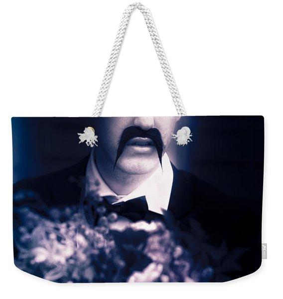 Vintage Man With Flowers Weekender Tote Bag