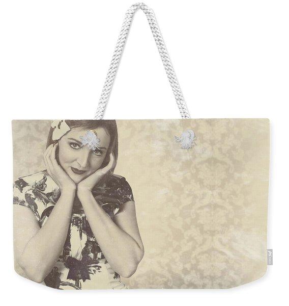 Vintage Photograph Of A Vintage Hollywood Actress Weekender Tote Bag