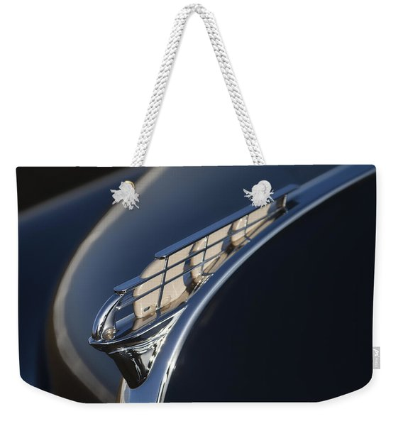 Vintage Plymouth Hood Ornament Weekender Tote Bag