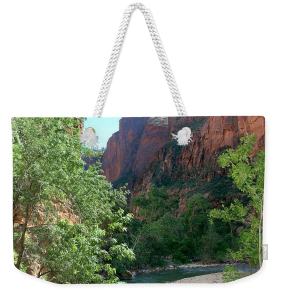 Weekender Tote Bag featuring the photograph Virgin River Rapids by Jemmy Archer