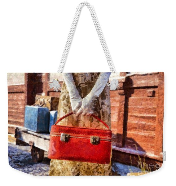 The Woman On Platform 8 Weekender Tote Bag