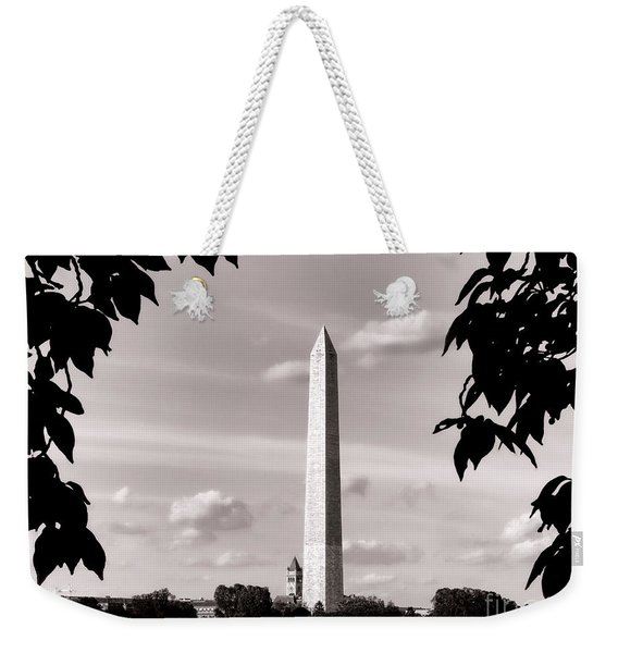Majestic Washington Monument Weekender Tote Bag
