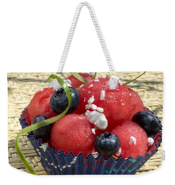 Watermelon Blueberry And Goatcheese Weekender Tote Bag