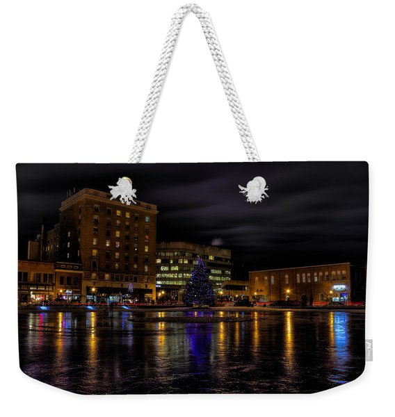 Wausau After Dark At Christmas Weekender Tote Bag
