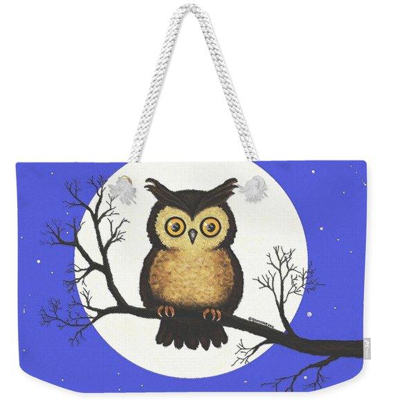 Whooo You Lookin' At Weekender Tote Bag