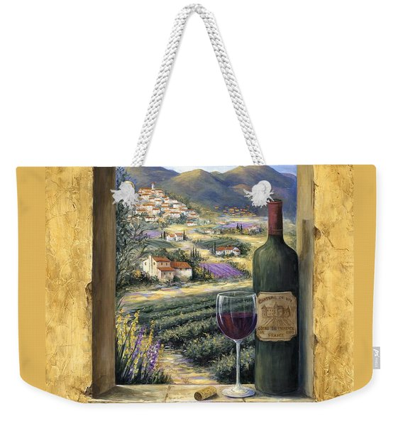 Wine And Lavender Weekender Tote Bag