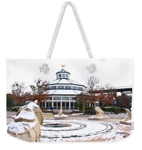Winter In Coolidge Park Weekender Tote Bag