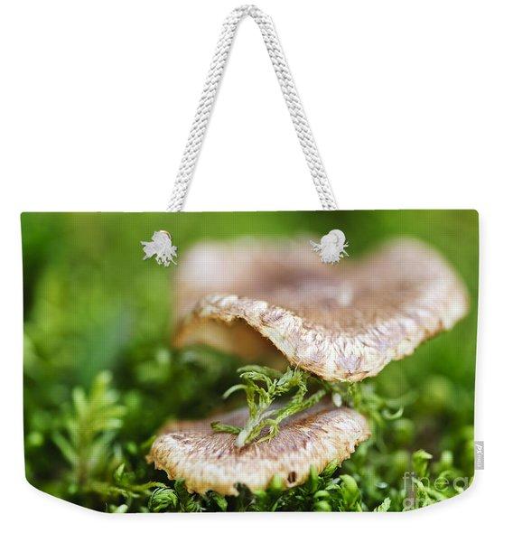 Wood Mushrooms Weekender Tote Bag
