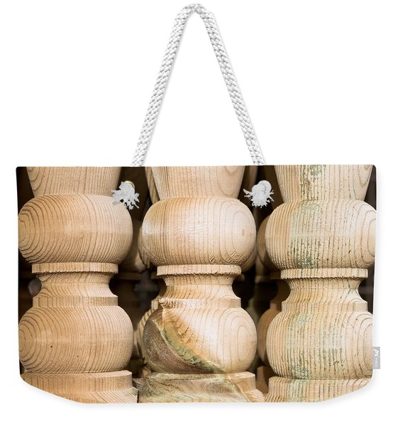 Wooden Posts Weekender Tote Bag