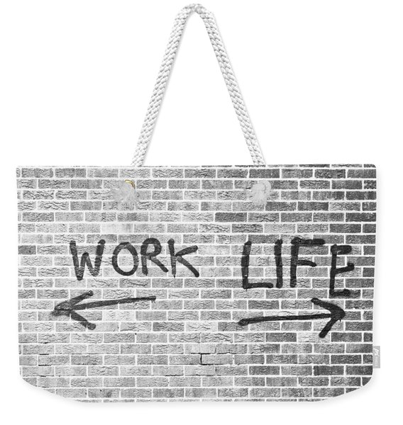 Work And Life Weekender Tote Bag