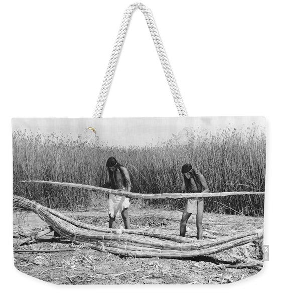 Yokuts Making Tule Boats Weekender Tote Bag