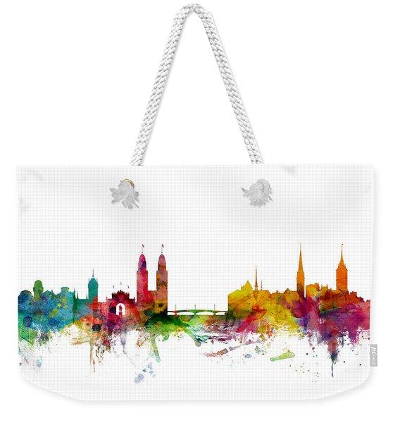 Zurich Switzerland Skyline Weekender Tote Bag
