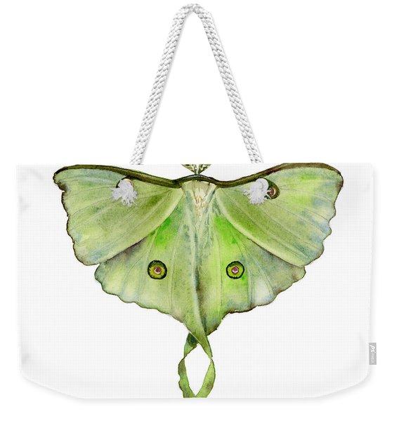100 Luna Moth Weekender Tote Bag