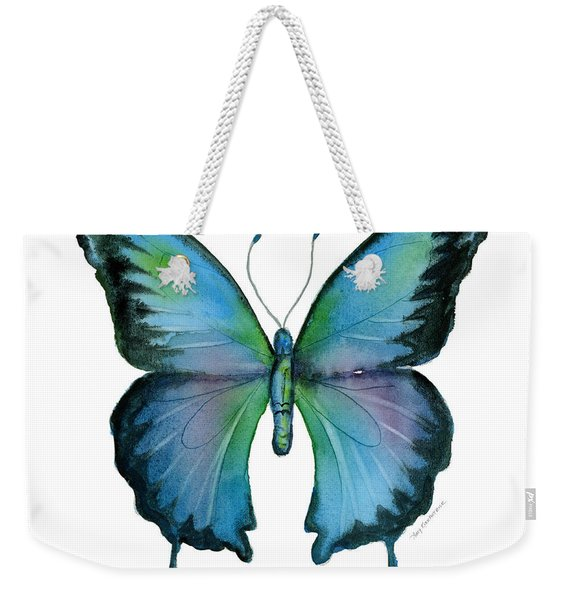 12 Blue Emperor Butterfly Weekender Tote Bag