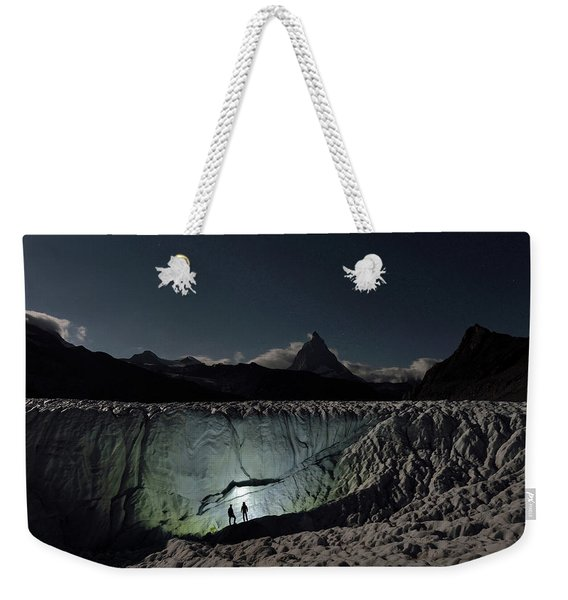Exploration Of Ice Caves And Moulins Weekender Tote Bag