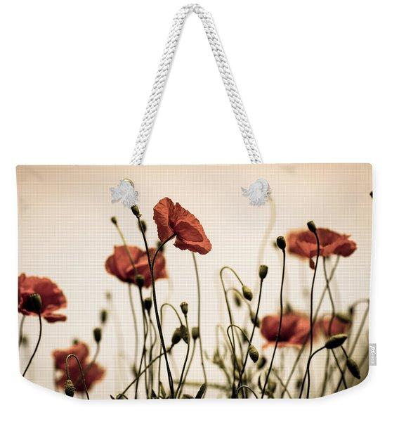 Poppy Meadow Weekender Tote Bag