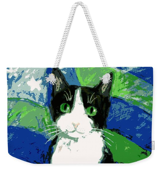 Cat With Stars And Stripes Weekender Tote Bag