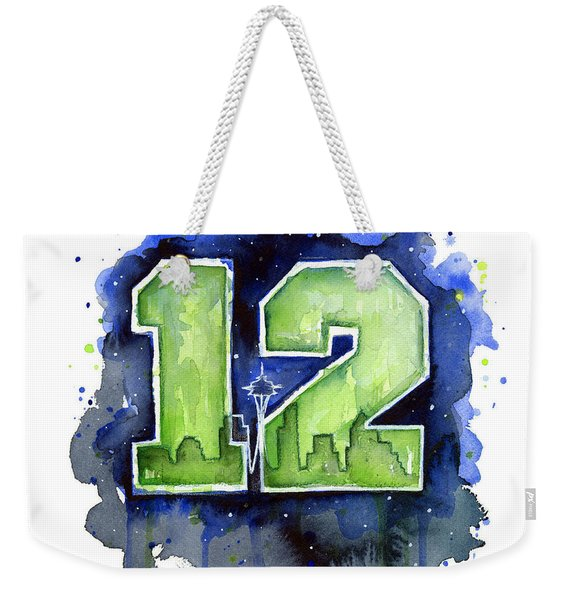 12th Man Seahawks Art Seattle Go Hawks Weekender Tote Bag