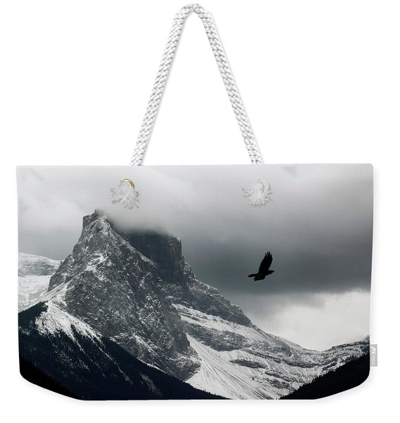 The Clouds Roll Off The Top Weekender Tote Bag
