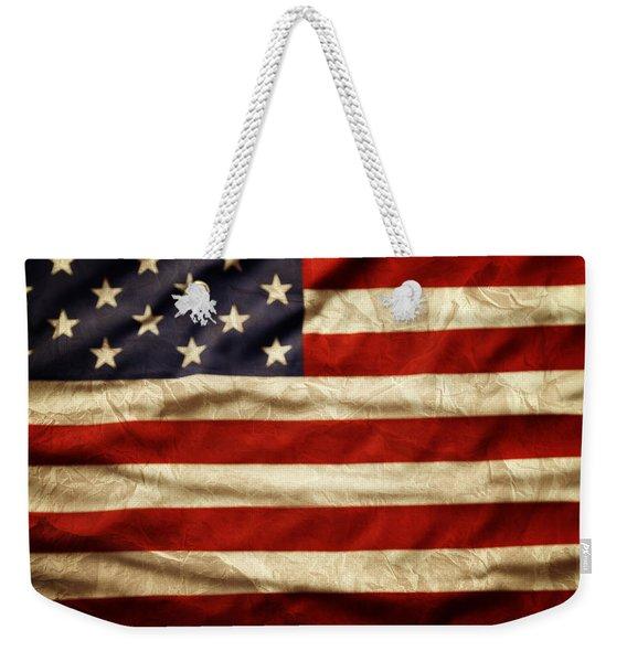 American Flag 59 Weekender Tote Bag