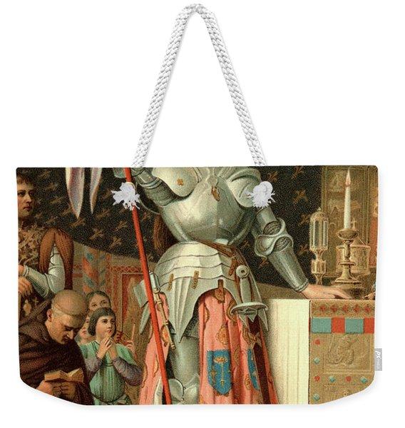 1400s July 17 1430 Joan Of Arc Weekender Tote Bag
