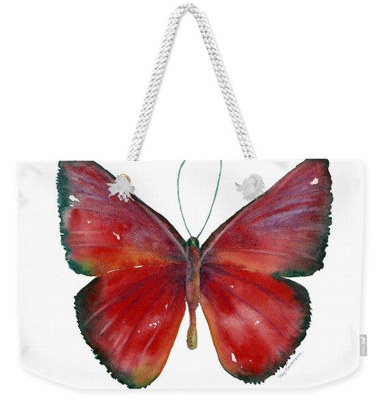 16 Mesene Rubella Butterfly Weekender Tote Bag