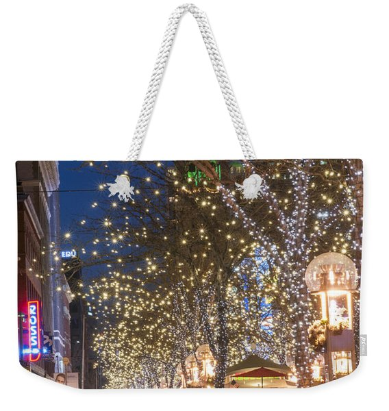 16th Street Mall In Denver Holiday Time Weekender Tote Bag