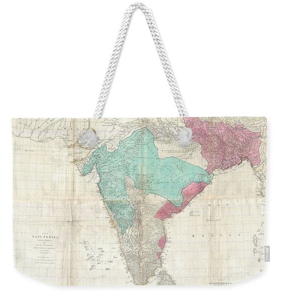 1768 Jeffreys Wall Map Of India And Ceylon Weekender Tote Bag