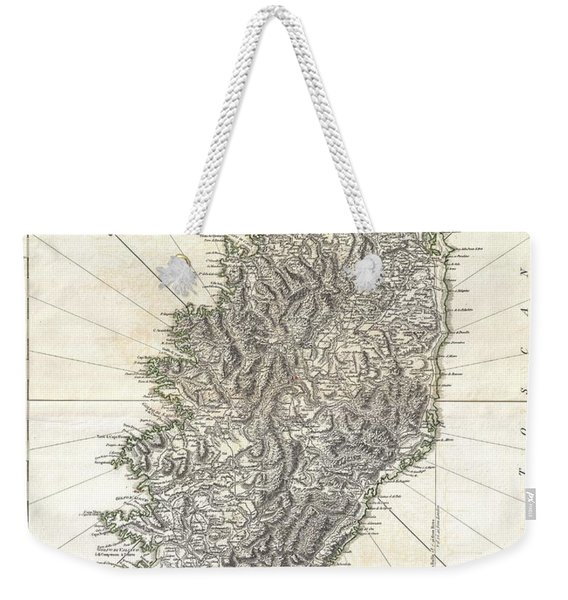 1794 Jeffreys Map Of Corsica France Weekender Tote Bag