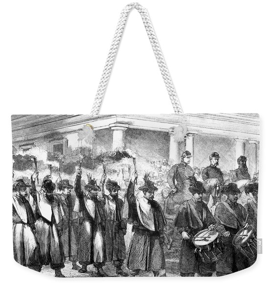 1800s 1860s December 1861 Torchlight Weekender Tote Bag