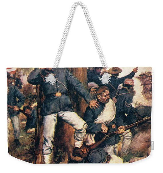 1800s 1860s May 1864 Union Troops Fight Weekender Tote Bag