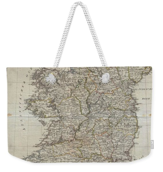 1804 Jeffreys And Kitchin Map Of Ireland Weekender Tote Bag