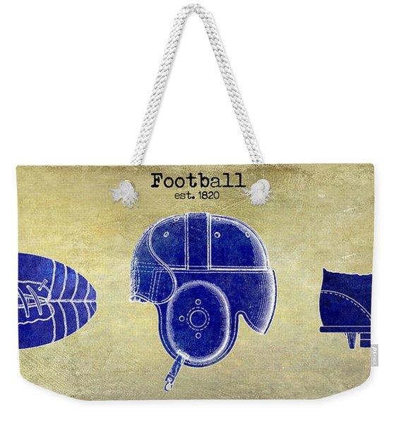 1820 Football Drawing Weekender Tote Bag