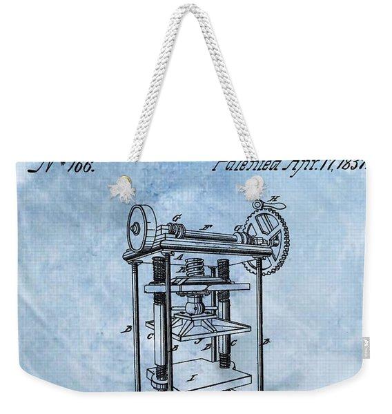 1837 Cotton Press Patent Weekender Tote Bag