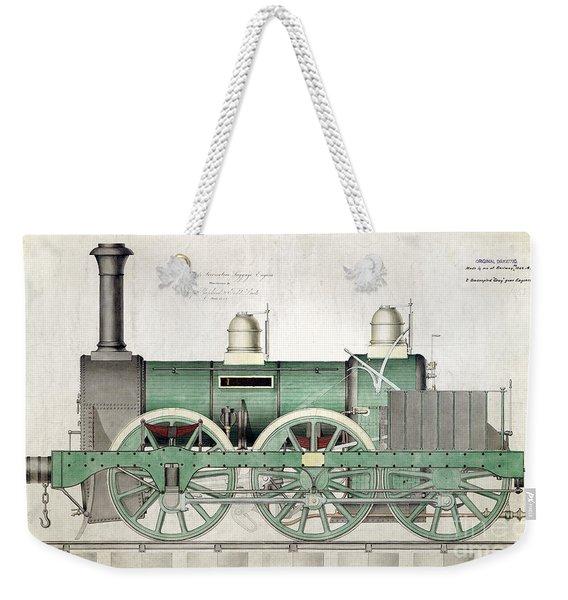 1843 Locomotive Luggage Engine Weekender Tote Bag