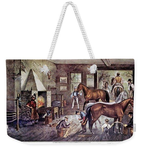 1860s Trotting Cracks At The Forge - Weekender Tote Bag