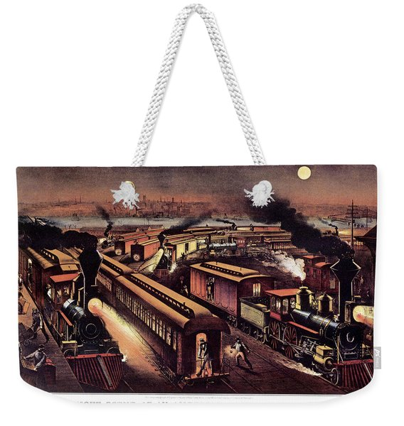 1870s Night Scene At An American Weekender Tote Bag