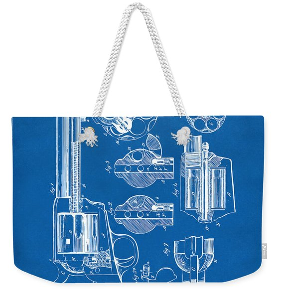 1875 Colt Peacemaker Revolver Patent Blueprint Weekender Tote Bag