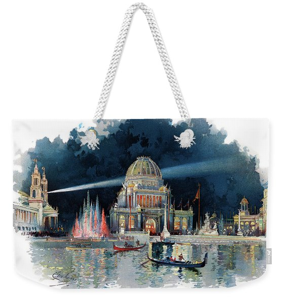 1890s Night In Grand Court Of World Weekender Tote Bag